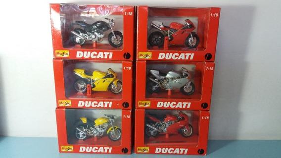 6 Motos Ducati 1997, Escala 1/18 Maisto Na Caixa