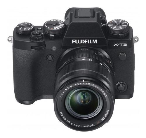 Imagen 1 de 2 de Fujifilm Serie X X-T3 18-55mm R LM OIS Kit sin espejo color  negro