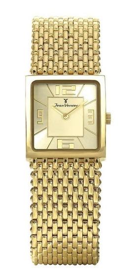 Relógio Jean Vernier Feminino Jv114 Social Retangular