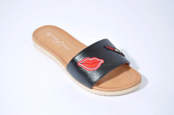 Sandalia Lady Stork Chatita Flats Flip Flops Moda Edna