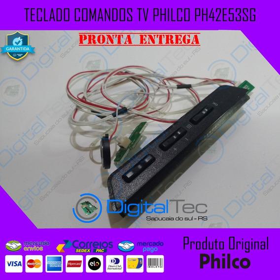 Teclado + Botão Power + Flats Tv Philco Ph42e53sg Original
