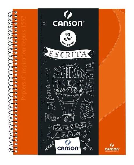 Caderno Espiral Pautado Expressão & Arte Laranja 90g 80 Fls
