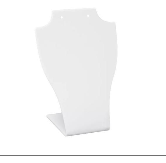 Expositor De Colar E Brinco - Branco 20 Peças 17 X 6 Cm