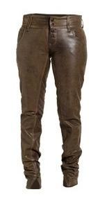 Pantalon Cuero Dama Corte Jean Moderno Chupin - Maybe -