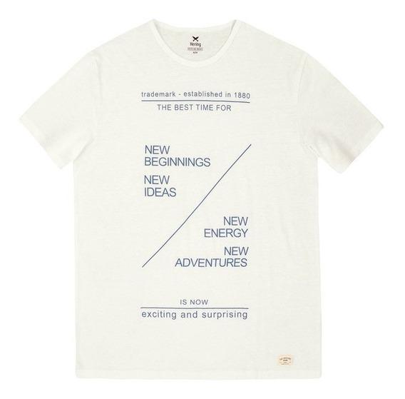 Camiseta Masculina Slim Em Malha Botonê Hering - 3244emk