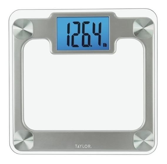Báscula Digital De Vidrio Transparente Taylor Hasta 200kgs