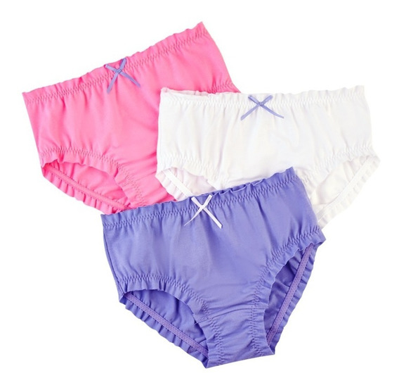 ¡oferta! 23873 Pack 3 Panties Niña Marca Ilusion Original
