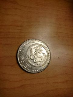 Moneda Mexico 20 Pesos 1981 Cultura Maya