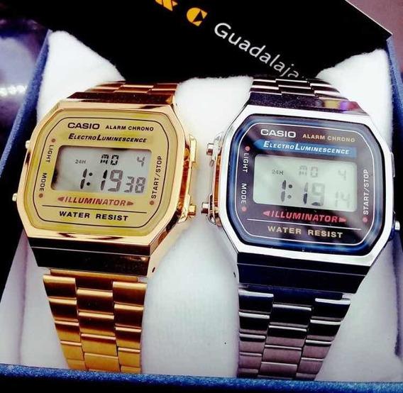 Relojes Vintage Mayoreo Varios Colores Máxima Calidad Acero