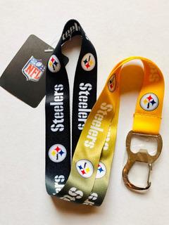 Portagafete Con Destapador Acereros De Pittsburgh Steelers