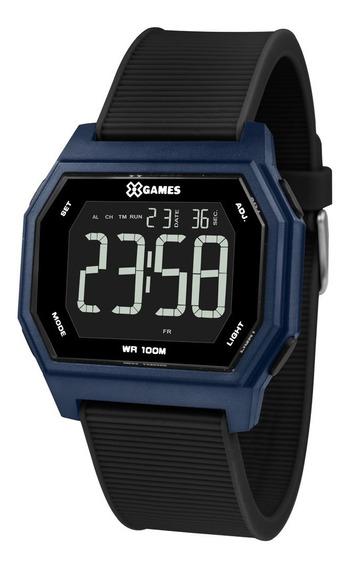 Relógio X-games Masculino Digital Xgppd115 Pxpx Quadrado Azu