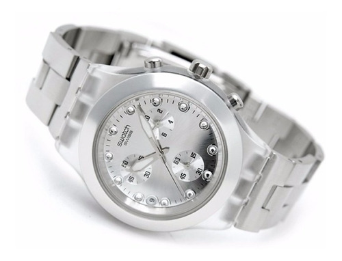 Reloj Swatch Svck4038ag Plateado Unisex Pulso Acero Inoxidab