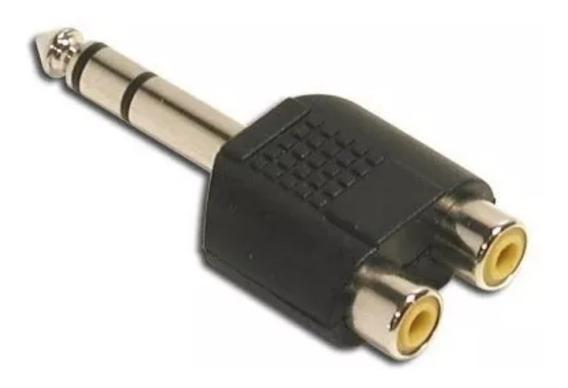 Adaptador Plug 6.5 Estereo A 2 Rca Hembra Conector Stereo