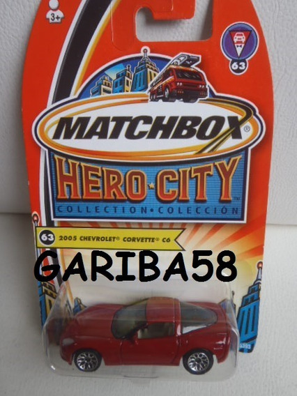 R$20 No Lote Matchbox ´05 Chevrolet Corvette C6 2005 G58