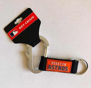 Llavero Carabiner Astros De Houston, Producto Oficial Mlb