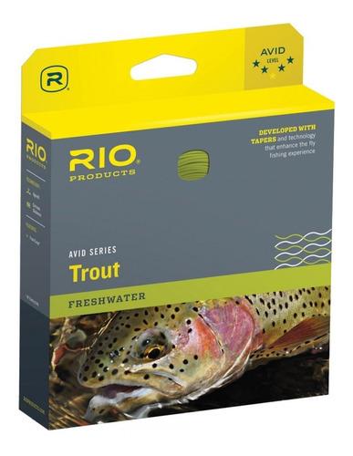 Imagen 1 de 4 de Linea Pesca Con Mosca Rio Avid Trout 24ft Sinking Tip 150 Gr