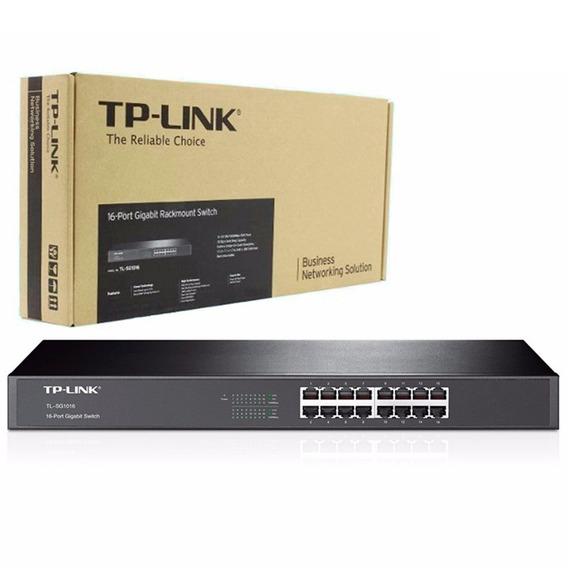 Switch Tp Link Sg1016 Giga 16 Bocas Rackeable Gigabit R19