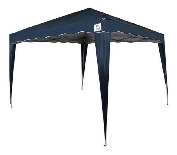 Tenda Gazebo Praia E Camping Azul Dobrável 3x3m Belfix