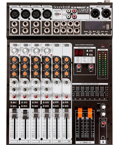 Mesa De Som Soundcraft Sx802fx-usb (8 Canais/efeitos)