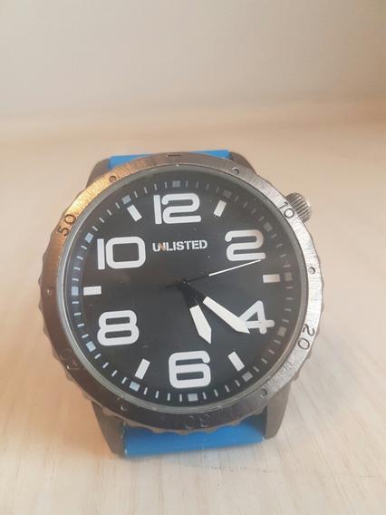 Relógio De Ponteiros Da Marca Unlisted Pulseira Da Cor Azul