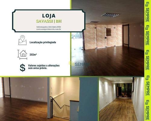 Imagem 1 de 26 de Loja Para Alugar, 202 M² E 02 Vagas- Savassi - Belo Horizonte/mg - Lo0093