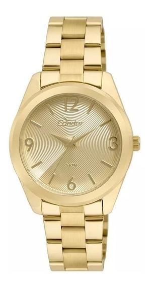 Relógio Condor Feminino Co2035kse/4d Dourado Analogico