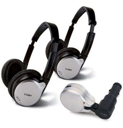 Conjunto 2 Fones De Ouvido Headphone Coby Para Carros