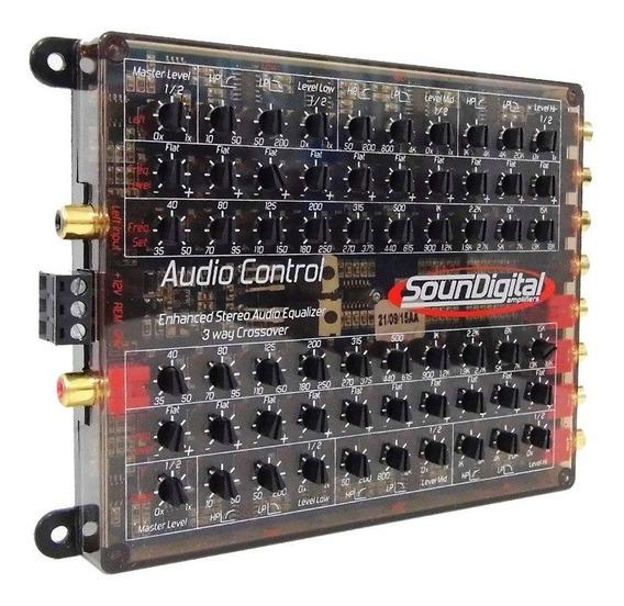 Crossover Equalizador Soundigital Audio Control 3 Vias