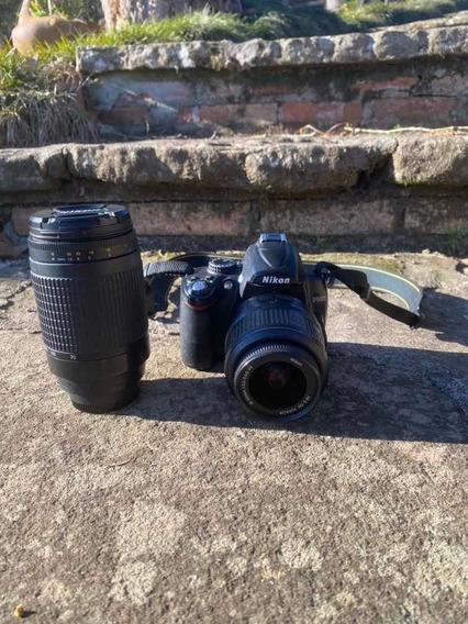 Camera Nikon D5000 Com 2 Lentes