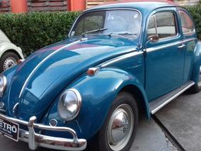 Volkswagen Vw Fusca 1966 1.200 Placa Preta Garagem Retrô