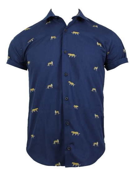 Camisa M/c Blue Tiger