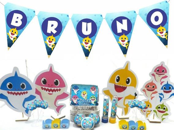 Kit Festa Infantil 300pçs - Baby Shark - Personalizado