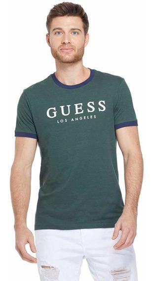 Playera Guess Green L.a Original