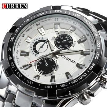 Relógio Luxo Curren De Aço Inoxidável Homens
