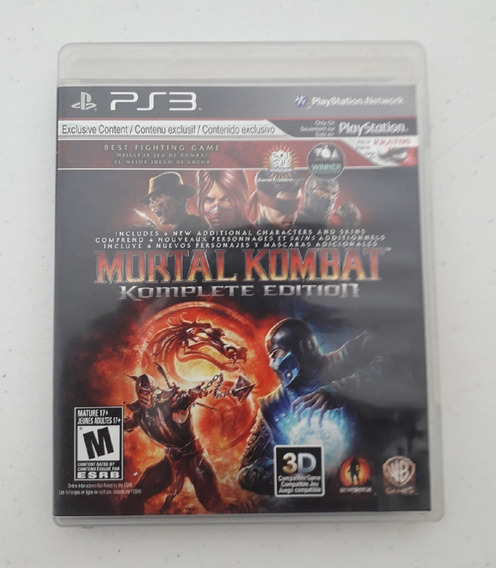 Jogo Mortal Kombat 9 Ix - Ps3 - Português - Mídia Física