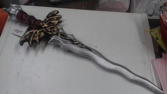 Espada Medieval Murcielago. Bicolor. Halloween. Chirimbolos