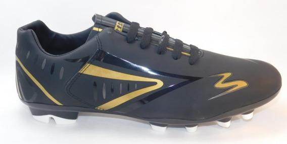 Zapatos Fut Soccer Negro/oro/oxford Cod.434