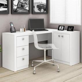 Escrivaninha Reversível 3 Gavetas 2 Portas - Me4100 Branco