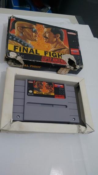 Final Fight - Com Caixa - Original - Super Nintendo