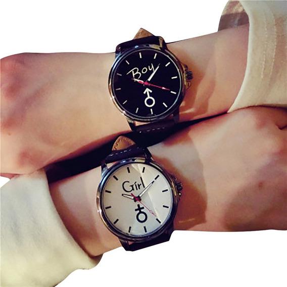 Relógio Casal Feminino / Masculino Presente Ideal Namorados