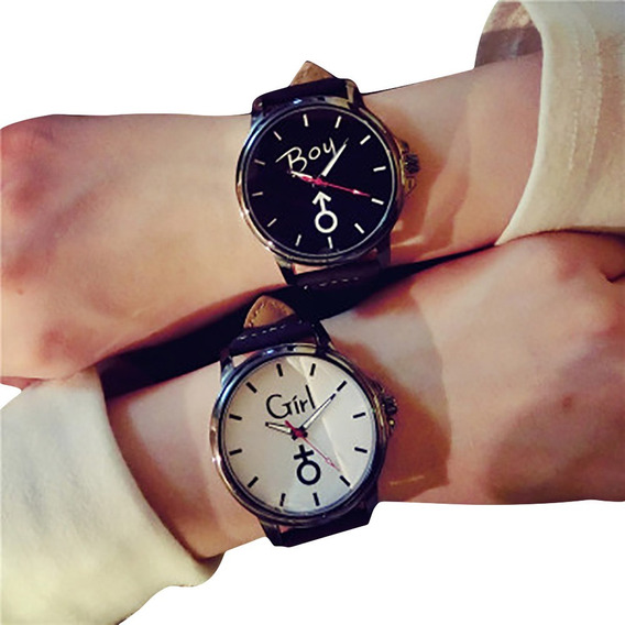 Relógio Casal Feminino / Masculino Presente Namorados