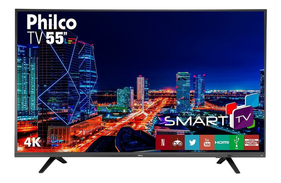Smart Tv Philco 4k Led 55 Ptv55u21dswnt Netflix Bivolt