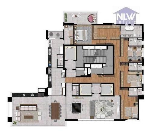 Imagem 1 de 11 de Apartamento Com 4 Dormitórios À Venda, 337 M² Por R$ 6.000.000,00 - Tatuapé - São Paulo/sp - Ap4358