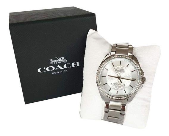 Reloj Coach Dama Plata Hermoso