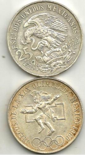 Moneda Olimpica 1968 Plata