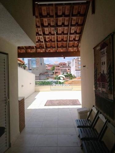 Cobertura Com 2 Dormitórios À Venda, 136 M² Por R$ 600.000,00 - Parque Das Nações - Santo André/sp - Co11024