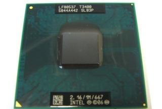 Intel Core Duo T3400 2.16ghz 1/667 Computadora Portátil Cpu