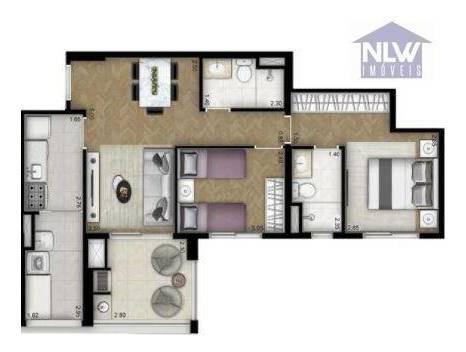 Apartamento À Venda, 69 M² Por R$ 818.545,00 - Vila Leopoldina - São Paulo/sp - Ap2528