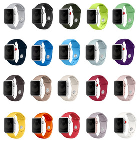 Pulseira Sport Para Apple Watch 38mm 40mm 42mm 44mm Series