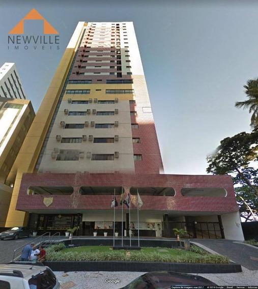 Flat Com 1 Quarto Para Alugar, 33 M² Por R$ 2.200/mês - Boa Viagem - Recife/pe - Fl0003